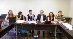 Consejo de Estudiantes 2014 juento al Decano D. Antonio Zapardiel